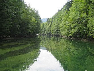 Idrijca - The Idrijca River near the Wild Lake