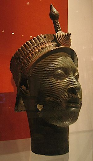 Ife - Bronze Head from Ife, probably a king and dated around 1300 C.E., in the British Museum.