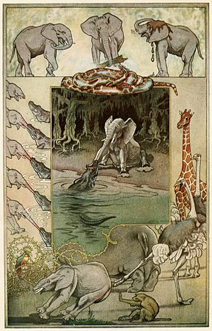 Joseph M. Gleeson - The Elephant's Child by Joseph M. Gleeson, from Just So Stories, 1912 edition