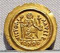 Impero romano d'oriente, maurizio tiberio, emissione aurea, 582-602.JPG
