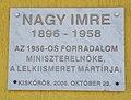 Imre Nagy Plaque (2006), 2021 Kiskőrös0528.jpg