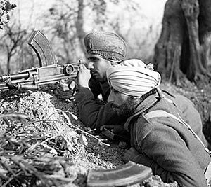 Sikhs in the British Indian Army - Image: Indian sikh soldiers in Italian campaign