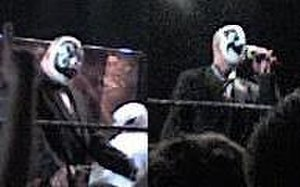 Insane Clown Posse - Violent J (left) and Shaggy 2 Dope (right) in 2010