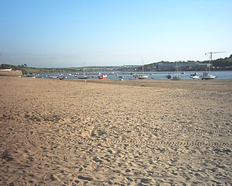 Instow - Instow Beach, overlooking River Torridge and A39 Torridge Bridge
