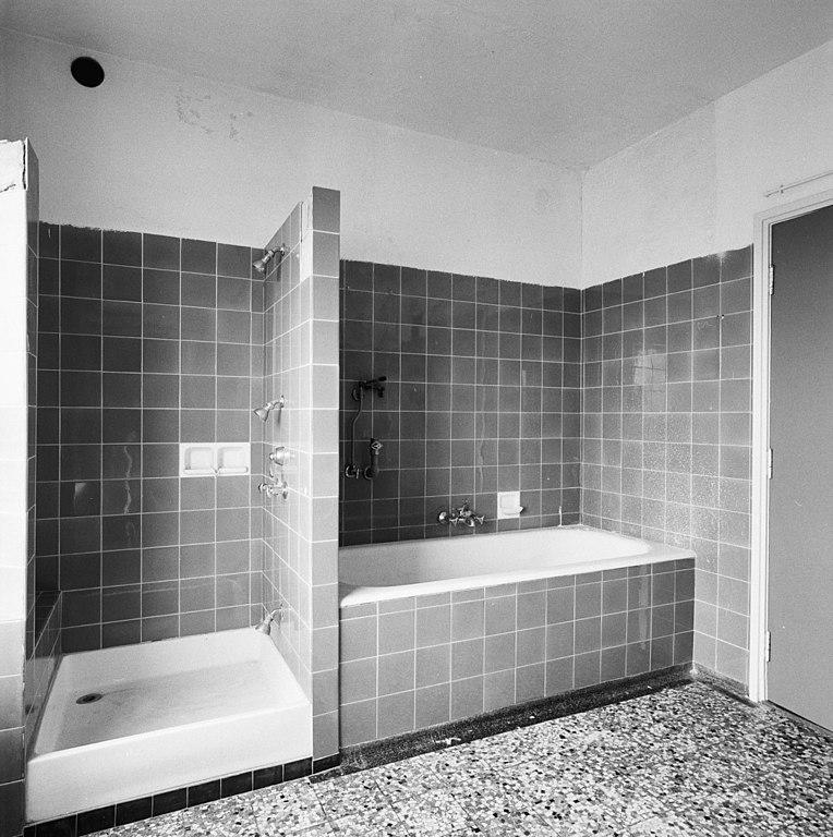 file:interieur, penthouse, badkamer, bad en douche - heerlen, Badkamer