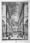 interieur naar het westen, reproductie van tekening uit plus-minus 1730 - amsterdam - 20013247 - rce