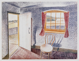 Peggy Angus - Interior at Furlongs 1939, by Eric Ravilious