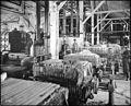 Interior of a beet sugar factory showing filter presses (CHS-2490).jpg