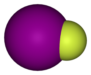 Iodine monofluoride - Image: Iodine monofluoride 3D vd W