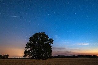 Iridium-felvillanás a Hold fényében, Észtország Võru megyéjében
