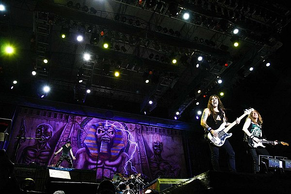 Bruce Dickinson, Steve Harris and Janick Gers in Costa Rica.