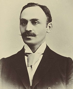 Isaac Isaacs - Isaacs in the 1898 Australasian Federal Convention album.