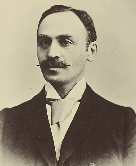 Isaacs in the 1898 Australasian Federal Convention album. Isaac Isaacs (1898).jpg