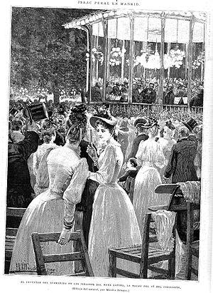 Isaac Peral - Reception to Isaac Peral in Madrid, summer of 1890, by Narciso Méndez Bringa.