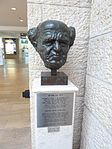 Israel International Airport terminal 3 Boulevard David Ben Gurion bust.jpg
