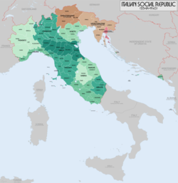 Administrative divisions of the Italian Social Republic