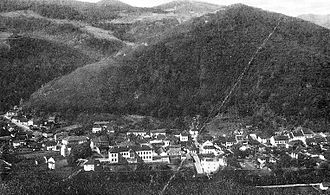 Ivanjica - Panorama of Ivanjica in 1941.