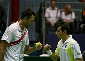 Ivo Karlović - Ivo Karlović and Ivan Dodig in Davis Cup doubles match against Germany