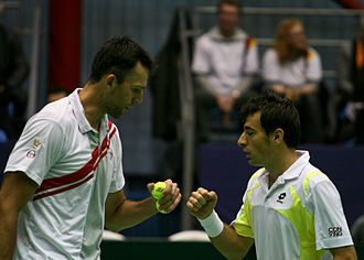 Ivo Karlović - Ivo Karlović and Ivan Dodig in Davis Cup doubles match against Germany