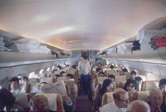 Douglas DC-8 - Six-abreast economy cabin, 1973