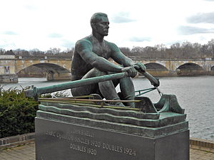 John B. Kelly Sr. - Sculpture of Kelly in Fairmount Park, Philadelphia