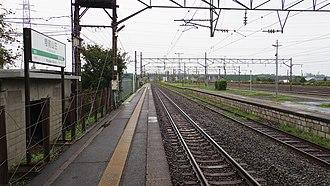 Rikuzen-Sannō Station - Image: JR East Tohoku main line Rikuzen sanno station platform 20140812