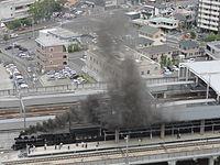 JRKyushu train SL Hitoyoshi Kumamoto Station 20150524.jpg