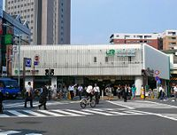JR Yoyogi station West exit.JPG