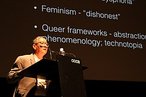 Jack Halberstam - Image: Jack Halberstam lecturing on Trans* Bodies at the CCCB (Centre de Cultura Contemporània de Barcelona), on February the 1st 2017