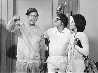 Bobby Riggs - Riggs (center) with Jack Klugman and Billie Jean King, 1973