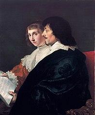 Double Portrait of Constantijn Huygens (1596-1687) and Suzanna van Baerle (1599-1637)