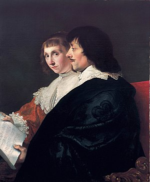 Suzanna van Baerle - Double portrait of Suzanna and Constantijn Huygens, by Jacob van Campen