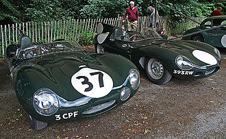 1954 World Sportscar Championship - Jaguar placed third with its Jaguar C-Type and D-Type (pictured) models
