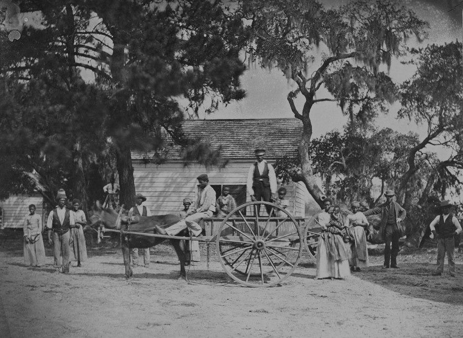 James Hopkinsons Plantation Slaves Going to Field