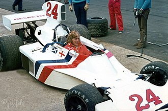 James Hunt - Hunt in the Hesketh at the 1975 British Grand Prix