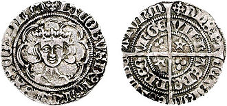 Scottish trade in the Middle Ages - A groat of 1482 showing the head of James III (1460–88), whose reign saw a major debasement of the coinage