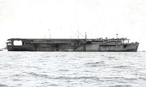 Japanese aircraft carrier Taiyō - Image: Japanese aircraft carrier Taiyō cropped
