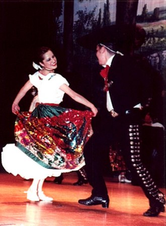 San Gabriel, California - Folk Dancers in traditional Mexican dress.