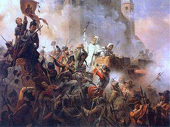Siege of Jasna Góra in Czestochowa, painting by January Suchodolski