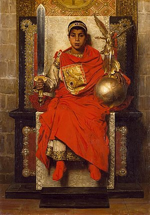 Honorius (emperor) - The Western Roman Emperor Honorius, Jean-Paul Laurens (1880). Honorius became Augustus on 23 January 393, at the age of eight.