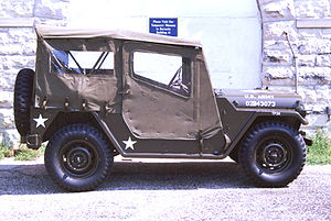 M151 ¼-ton 4×4 utility truck - M151A2 with top up and closed