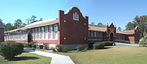 National Register of Historic Places listings in Hamilton County, Florida - Image: Jennings FL High School pano 01
