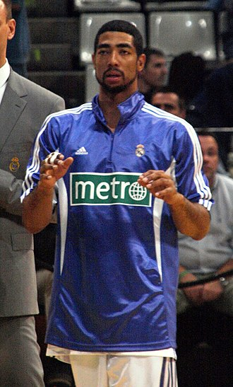 Jeremiah Massey - Massey warming up with Real Madrid in 2008.