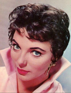 "The City on the Edge of Forever - Joan Collins (pictured in 1956), was a well known actress before appearing in ""The City on the Edge of Forever""."