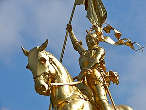 Jeanne d'Arc (Frémiet) - Image: Joan of Arc Philly