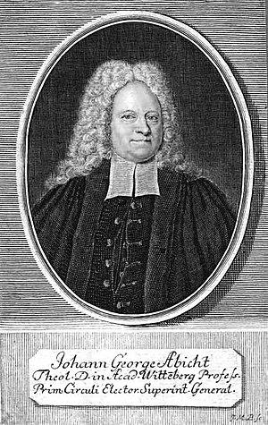 Johann Georg Abicht - Johann Georg Abicht Picture from ev. Predigerseminar the Lutherstadt Wittenberg