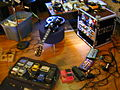 John Athayde's guitar rig, Low Watt Studios, Raleigh,NC, 2005-10-22.jpg