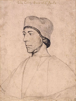 John colet by hans holbein the younger