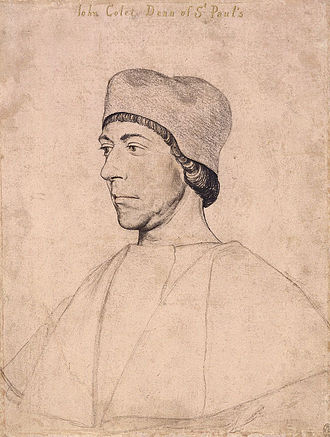 John Colet - Portrait drawing by Hans Holbein the Younger.