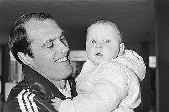 John Metgod - Metgod with son in 1983